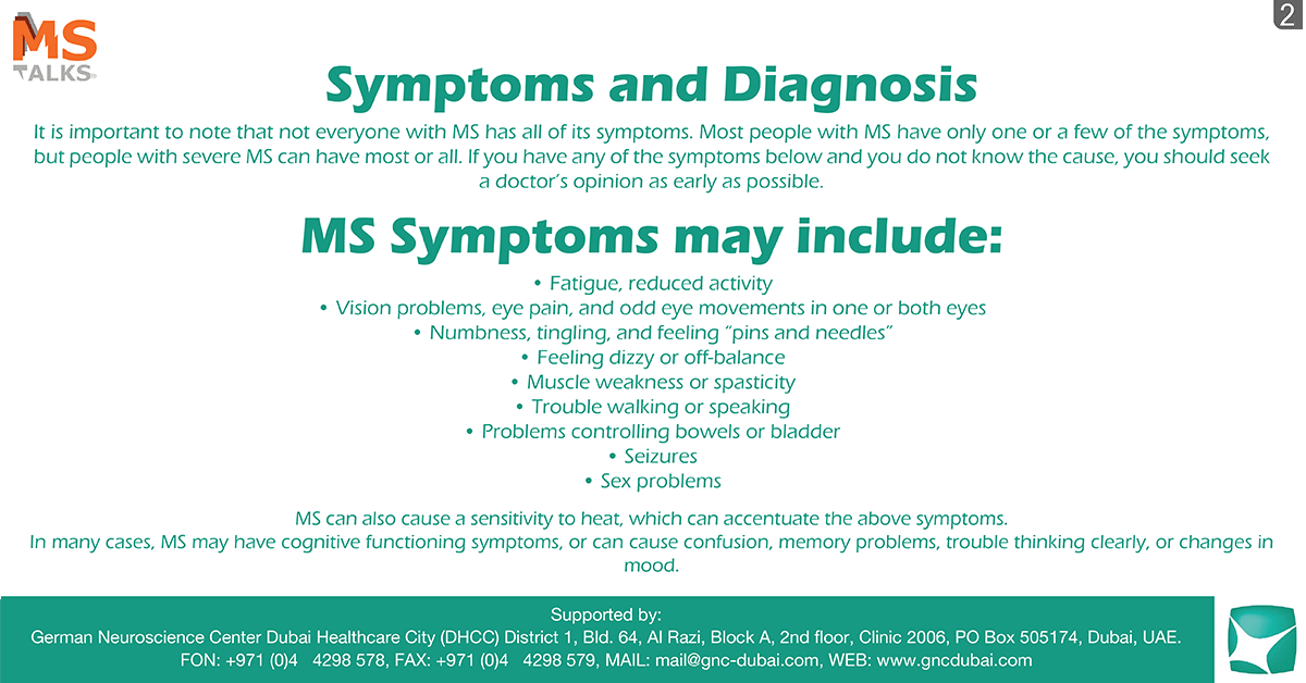 Symptoms of Multiple Sclerosis