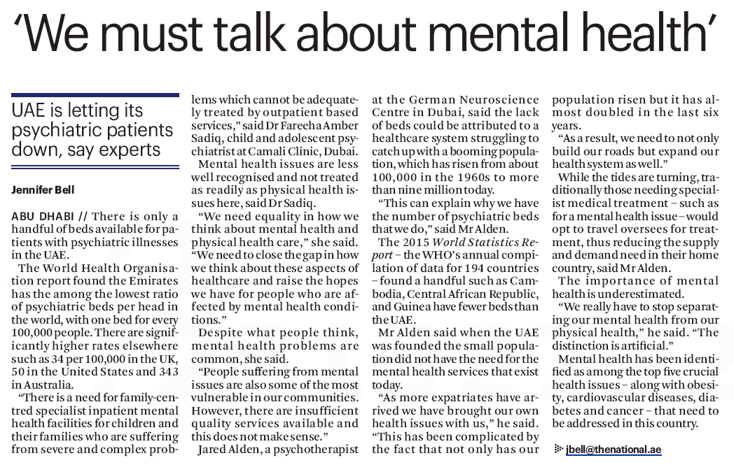 Psychiatrists in UAE - The National