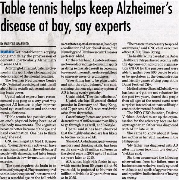 Ping Pong for Alzheimer event