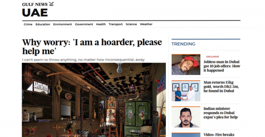 Compulsive Hoarding Disorder – Dr. Fabian Explains This Little Understood Disease in Gulf News