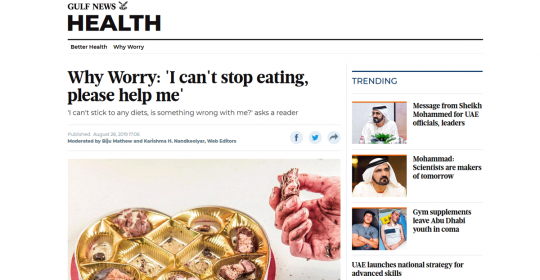 'I can't stop eating, please help me' – Dr Fabian Saarloos in Gulf News