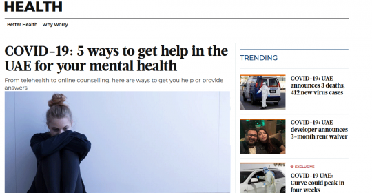 COVID-19: Ways to get help in the UAE for your mental health – German Neuroscience Center in Gulf News