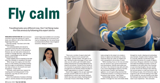 Travelling Anxiety in Times of COVID19 – Dubai Psychologist, Aamnah, explains how to cope in Time Out Magazine