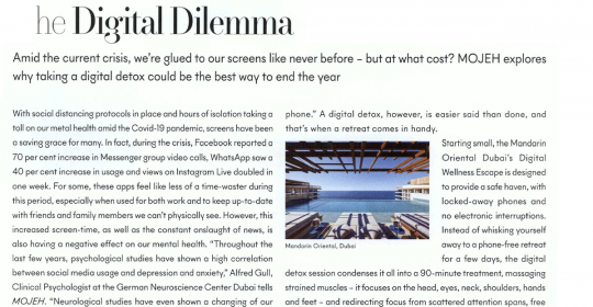 The Digital Dilemma – Dubai Psychologist, Alfred, speaks to MOJEH Magazine