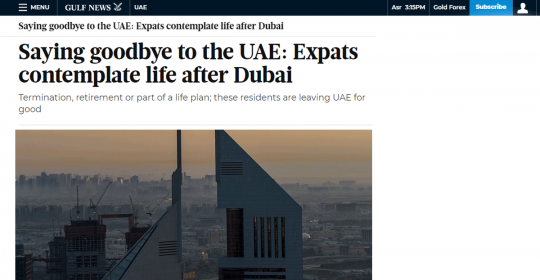 Saying goodbye to the UAE: Expats contemplate life after Dubai – Psychologist, Dr. Fabian, explains the psychology of change in Gulf News