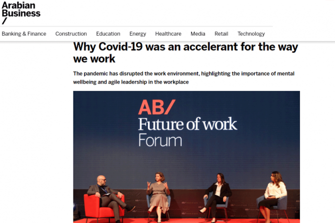 COVID-19 Changed The Way We Work – Dubai Psychologist, Aamnah, at the Arabian Business Panel