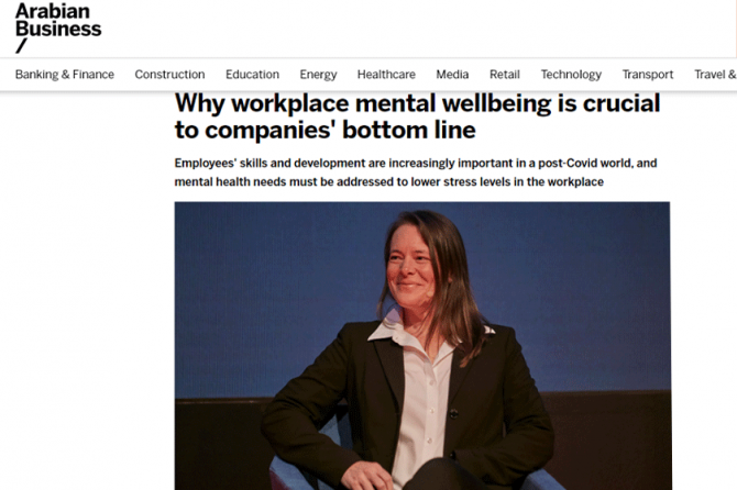 Workplace Mental Wellbeing – Dubai Psychologist, Aamnah, Explains Why It's Crucial