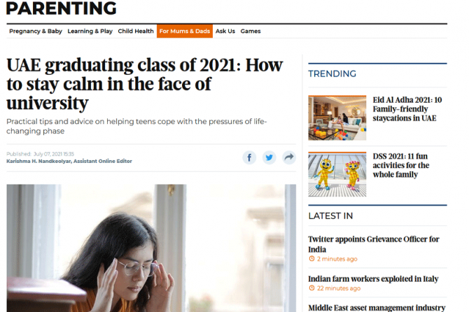 UAE graduating class of 2021: How to stay calm in the face of university – Dubai Psychologist, Kim Henderson, in Gulf News